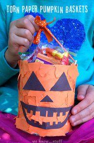 Torn Paper Pumpkin B