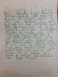 Pinterest Pin - When children write love letters!