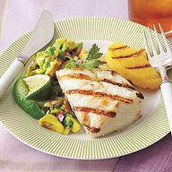 Grilled Halibut with