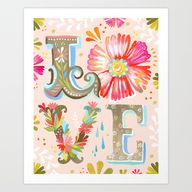 LOVE Art Print by Ka