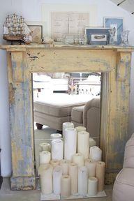fake fireplace antiq
