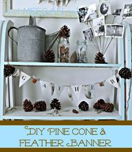 DIY Pine Cone and Fe