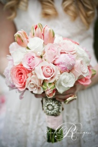 The pink bouquet wit