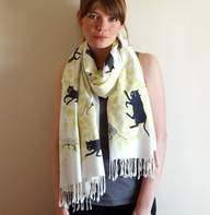 Big Cats Scarf - Cre