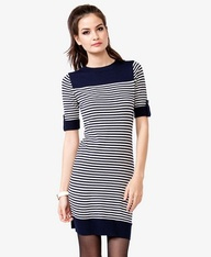 Striped Sweater Dres...
