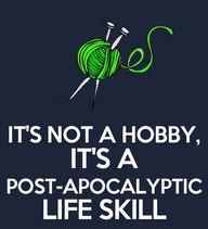 Knitting, gardening,