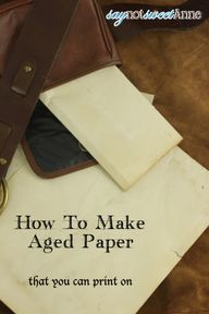 DIY Aged Paper - Eas