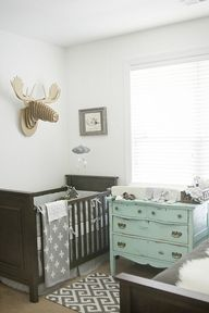 Lovely gray nursery