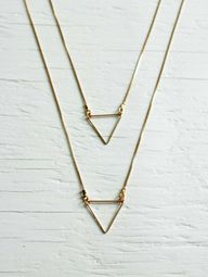 Gold Triangle Neckla