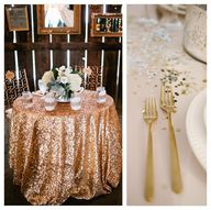 A GLITTER TABLECLOTH