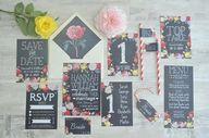 Floral Chalkboard We