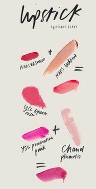 mixing lipsticks