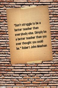 Be a better teacher