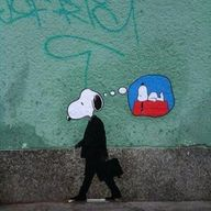 Snoopy goes to work.
