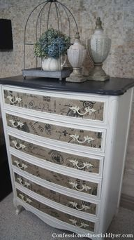 Dresser with Fabric