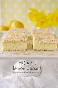 Frozen Lemon Dessert