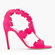 Floral Prints and Pink Color Trend For Spring 2013 Photo 14 | Rupert Sanderson Fuschia Suede Flora Stiletto Heels. | OH. MY. GOODNESS. YESSSS!!!!!!