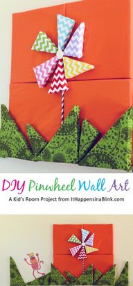DIY Pinwheel Wall Ar