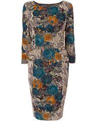 Zita Flocked Dress