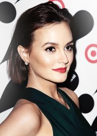 Leighton Meester rocks a sleek bob