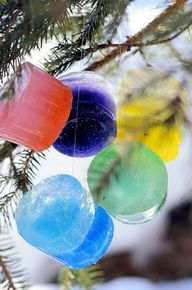 Colorful Ice Hanging