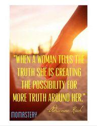 """When a woman tells"
