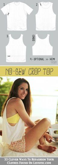 DIY No-Sew Crop Top