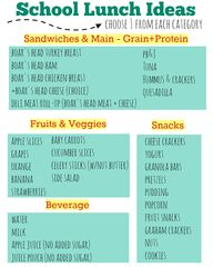 School Lunch Ideas -
