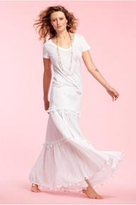 Megan Tiered Cotton Maxi Skirt