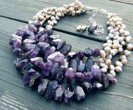 amethyst beads -- lo