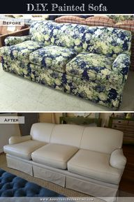 DIY Painted Sofa tut