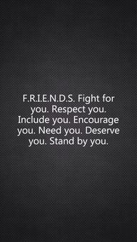 Friends, fight for y
