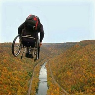 Wheelchair BASE jump...