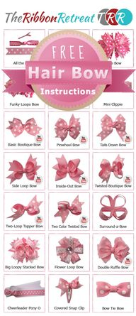 Hair bow tutorials (...