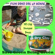 DIY Clay Dinosaur Bo