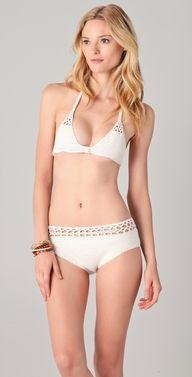 MINKPINK Avalon Crochet Bikini Top