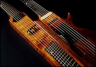 Hans Reichel was a German improvisational guitarist, experimental luthier, inventor, and type designer. Here one of his double necks. He was said to dislike double necks but said they were practical.