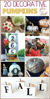 20 decorative pumpki