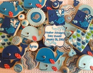 Adorable whale cooki