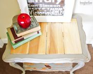 wood planked table t
