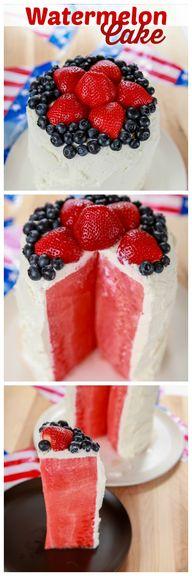 Watermelon Cake Tuto
