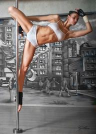 Fitness pole dancing