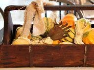 burlap and pumpkins