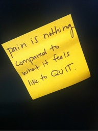 Pain is nothing…  #q