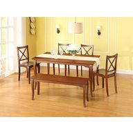 Better Homes and Gardens Ashwood Road 6-Piece Dining Set, Brown Cherry