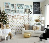Gold Christmas home