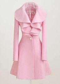 Pink Turndown Collar