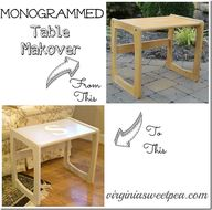 Monogrammed Table Ma