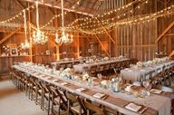 Barn wedding lightin