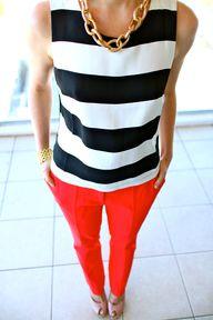 red + navy stripe si